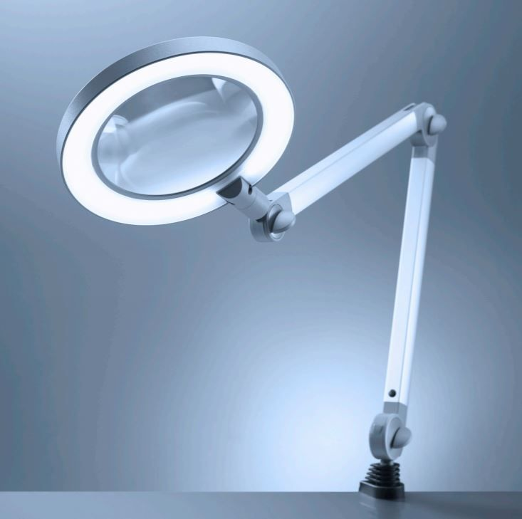 Ring Magnifier Lamp w/ Table Clamp