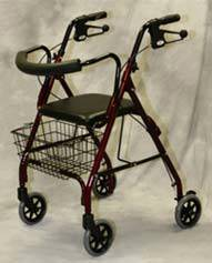 Rollator Walker w/ Curved Back