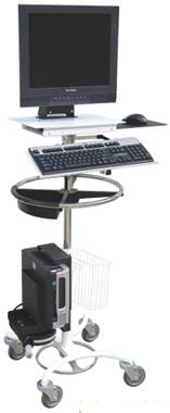 Rolling Computer Cart w/ Cord Reel