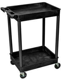 Heavy Duty Utility Carts with 2 Tub Shelves