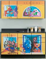 School House Themed Pediatric Cabinet Set