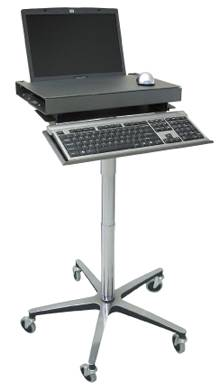 Mobile Laptop Stand w/ Adjustable Work Surface
