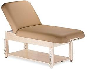 Stationary 73 inch Massage Table with Shelf and Tilt Back