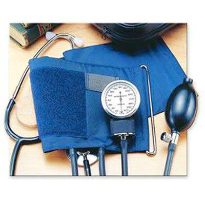 Self-Monitoring Home Blood Pressure Kit w/ Attached Stethoscope