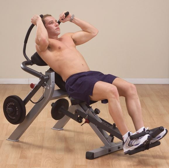 Semi-Recumbent Ab Workout Bench