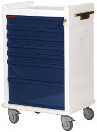 Seven Drawer MR-Safe Anesthesia Cart