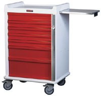 Seven Drawer MR-Safe Emergency Cart