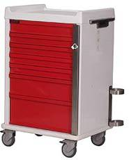 7 Drawer MR-Safe Emergency Cart Specialty Package