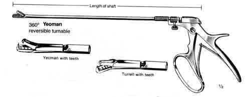 10in Shaft, Yeoman Biopsy Forceps