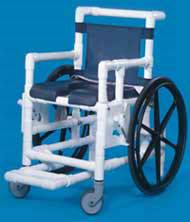 Water-Resistant PVC Wheelchair w/ Open Seat & Pail