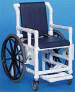 PVC Wheelchair w/ Deluxe Solid Seat