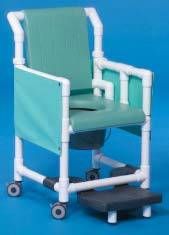Shower Chair Commode w/ Privacy Skirt