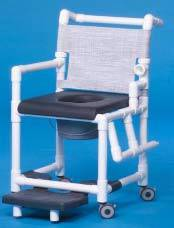 Shower Chair Commode w/ Footrest & Padded Seat