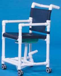 Shower Chair Commode to Accommodate Bed Pan
