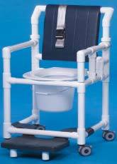 Shower Chair Commode w/ Deluxe Back