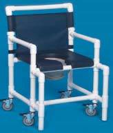 Shower Chair Commode w/ Deluxe Seat