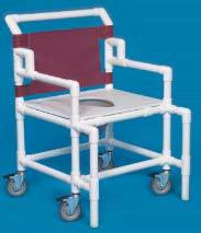 Shower Chair Commode w/ Flat Seat