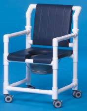 Deluxe Shower Chair Commode w/ Open Front Seat
