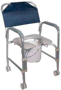 Shower Chair Commode with Casters