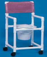 Slant Seat Shower Chair Commode 38in High