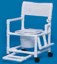 Shower Commode w/ Footrest