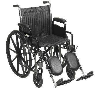 Silver Sport II Wheelchair 16in with Detachable Desk Arm Rests