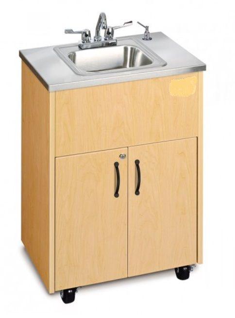 Single Basin Portable Sink Stainless Steel Top
