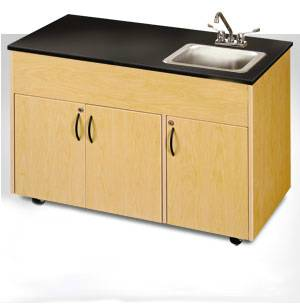 Single Deep Basin Portable Sink Extra Storage