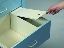 Single Key Lock Security Box for 9in Drawers