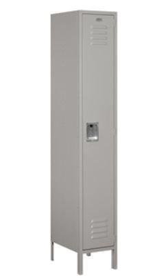 Single Tier Standard Metal Locker 15in Wide