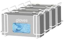 Single Wire Glove Box Dispenser - 4 Pack