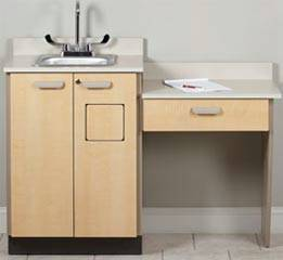 Base Sink Cabinet w/ Wall Mount Desk