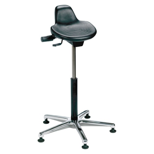 Sit Stand Lab Stool w/ Aluminum Base