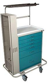 Six Drawer Key Lock Cart w/ Scope Cabinet