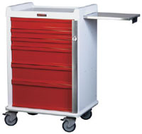 6 Drawer Emergency Cart w/ Breakaway Lock Package