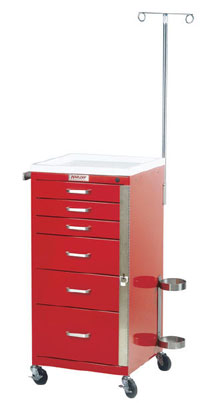 6 Drawer Mini Emergency Cart Specialty Package