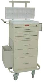 Six Drawer Mini Line Phlebotomy Cart Package