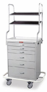 Six Drawer Monitor Cart Specialty Package