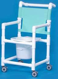 Slant Seat Shower Chair Commode 38in H