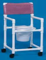 Slant seat Shower Chair Commode 41in H