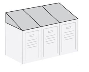 Sloping Hood for Metal Lockers