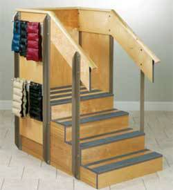 Small Corner Staircase w/ Storage Compartments