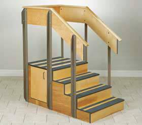 Small Corner Staircase with Storage
