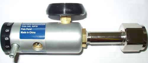 Small Tank Oxygen Regulator, 1/2 to 8 LPM