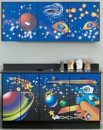 Space Place Themed Pediatric Cabinet Set