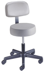Spin Lift Examination Stool w/ Backrest & ABS Base