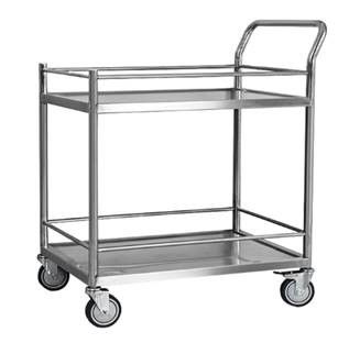 Stainless Steel Auxiliary Instrument Transport Cart