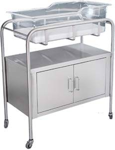 Stainless Steel Bassinet 2 Doors