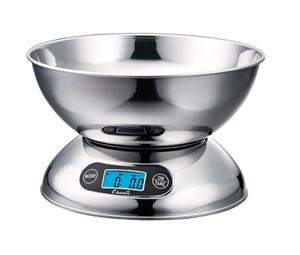 Stainless Steel Digital Scale with Bowl