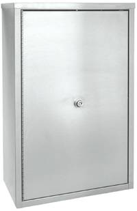 Stainless Steel Double Door Narcotic Cabinet, 15in H x 11in W
